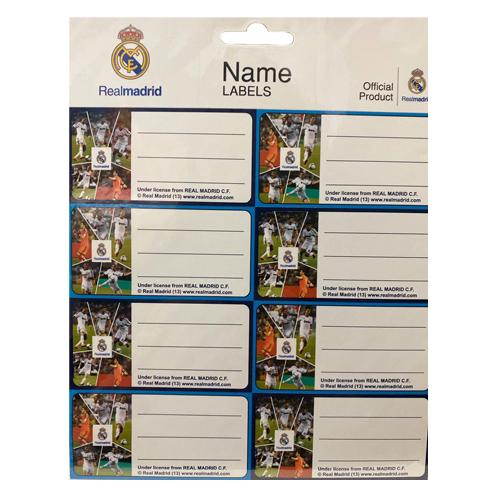 ملصق للاسماء - ريال مدريد
