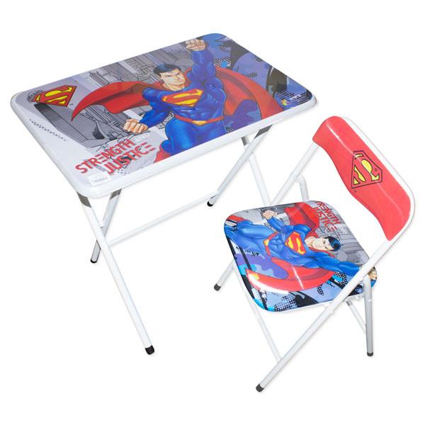 طاولة و كرسي للأطفال - سوبرمان