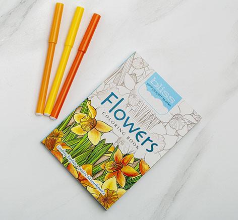 دفتر تلوين صغير  - الزهور