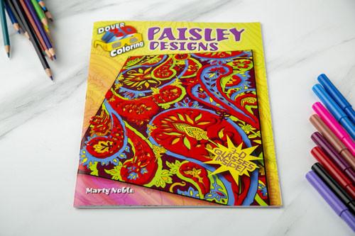 دفتر تلوين ثلاثي الأبعاد - تصاميم بيزلي