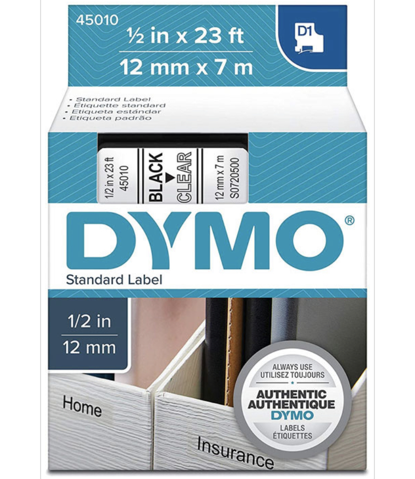 Dymo labels-clear