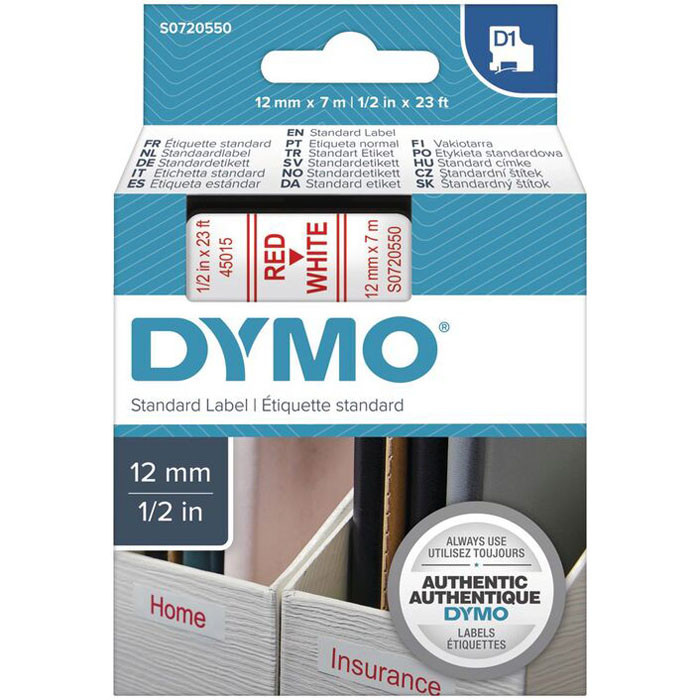 Dymo labels-red