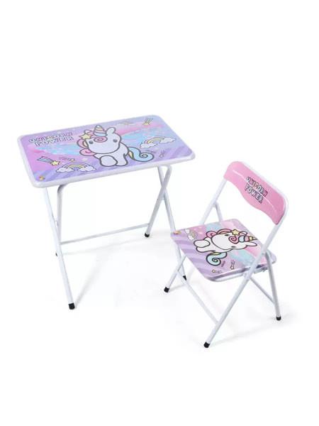 طاولة و كرسي للأطفال - يونيكورن