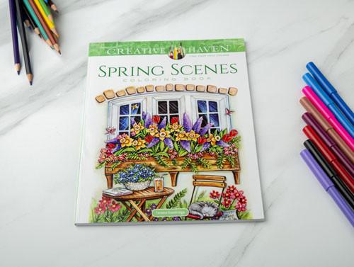دفتر تلوين - مشاهد الربيع