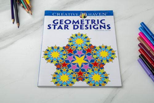 دفتر تلوين-  بتصميمات النجوم الهندسية