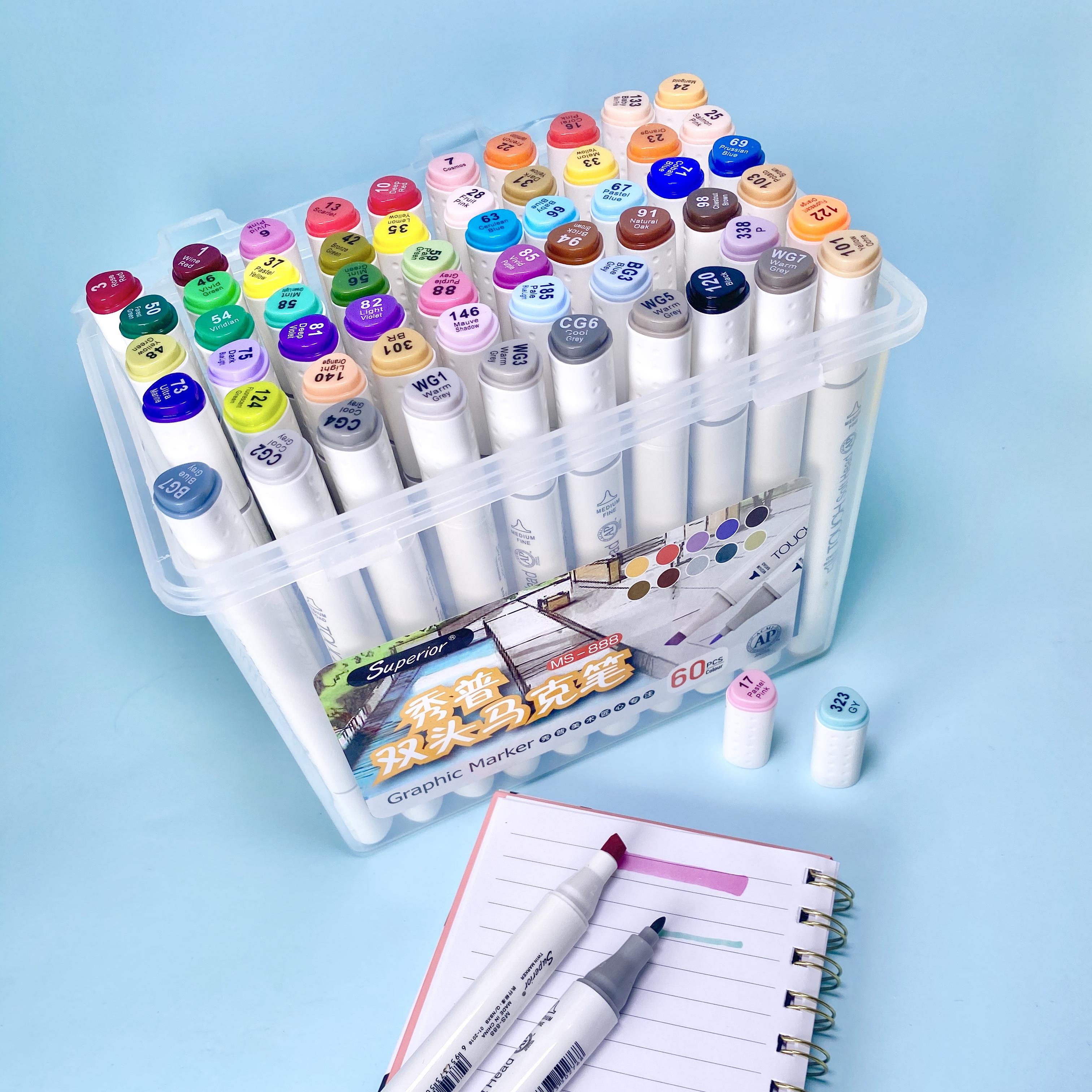 علبة أقلام تيكو - ذو وجهين - 60 لون